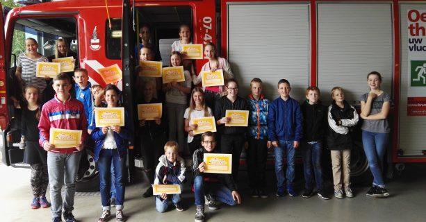 Groep  8 bij de brandweer