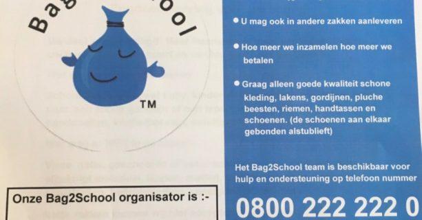 Nieuwe datum Bag2school dinsdag 2 juni 2020!!